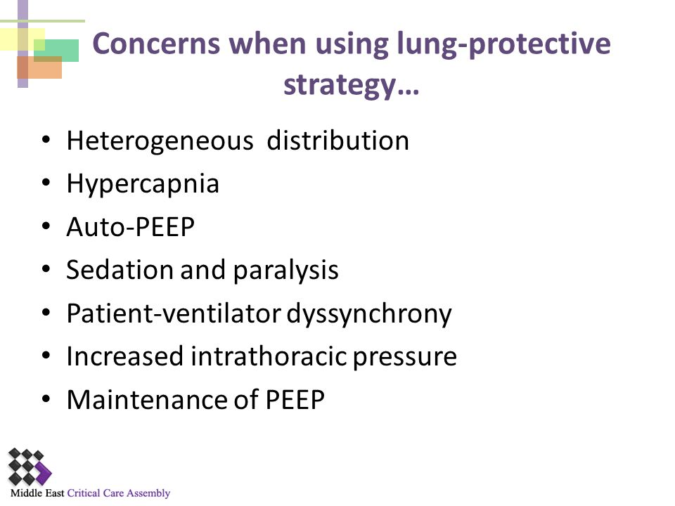 Concerns when using lung-protective strategy…