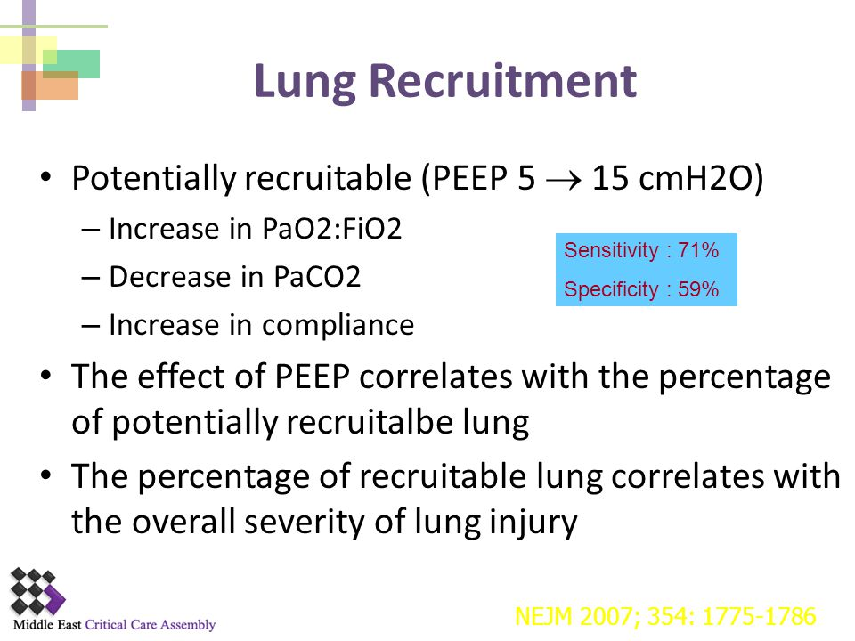 Lung Recruitment Potentially recruitable (PEEP 5  15 cmH2O)