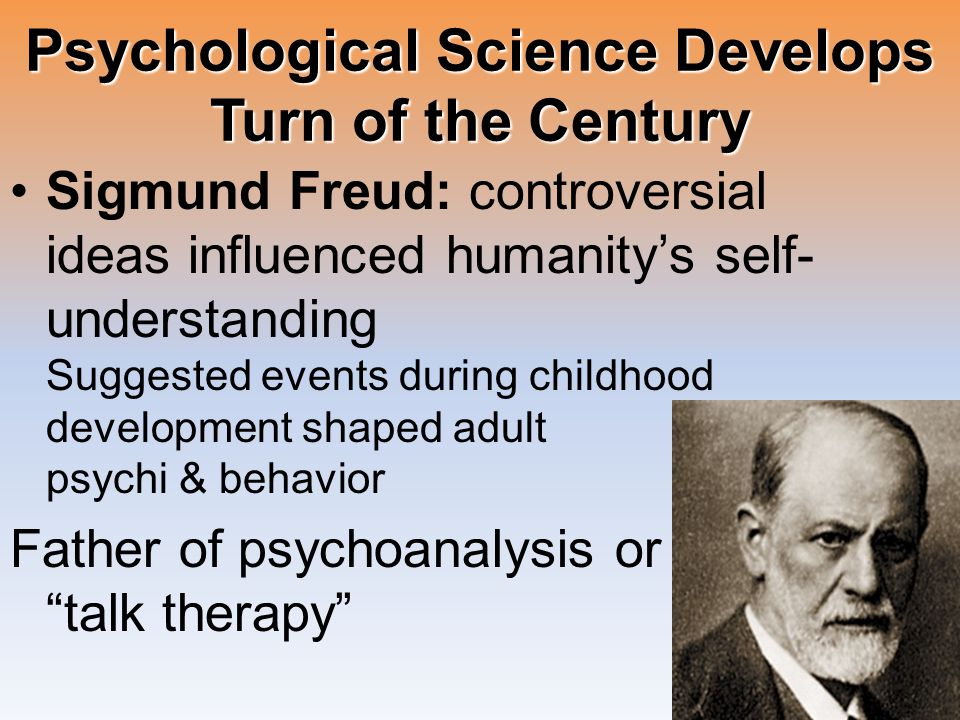 Psychological Science Develops Turn of the Century