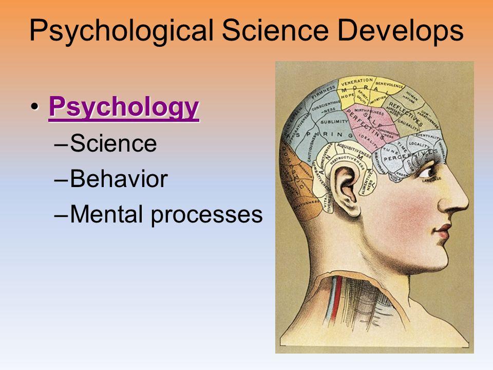 Psychological Science Develops
