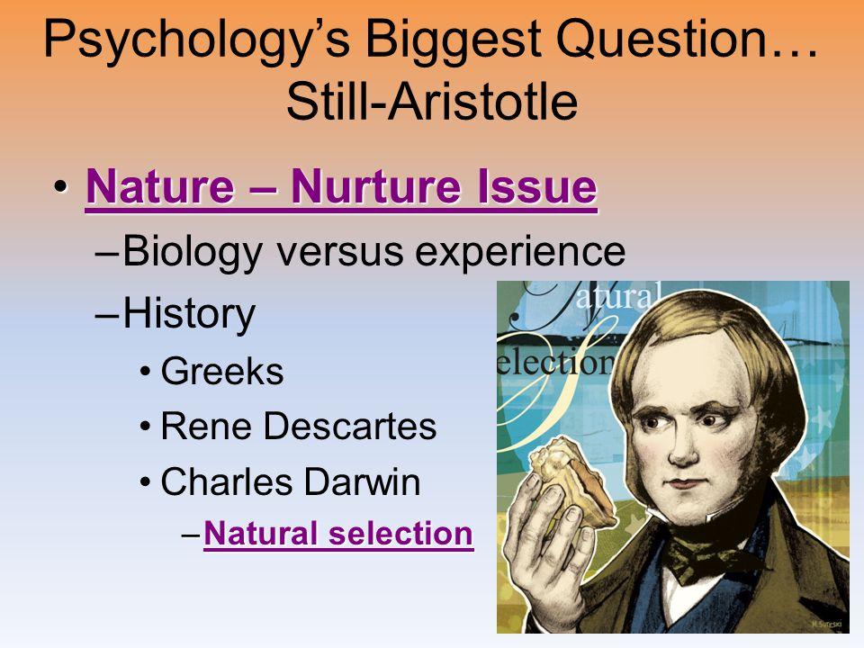 Psychology's Biggest Question… Still-Aristotle