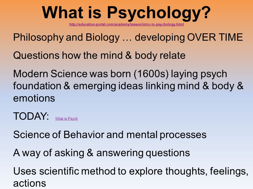 What is Psychology. http://education-portal