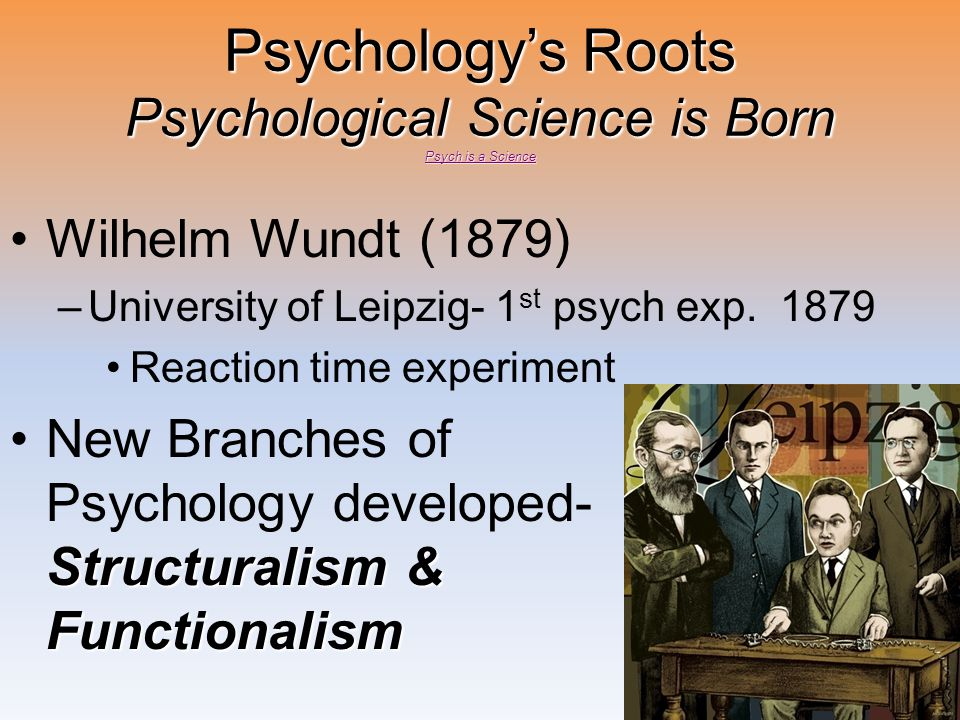 Psychology's Roots Psychological Science is Born Psych is a Science