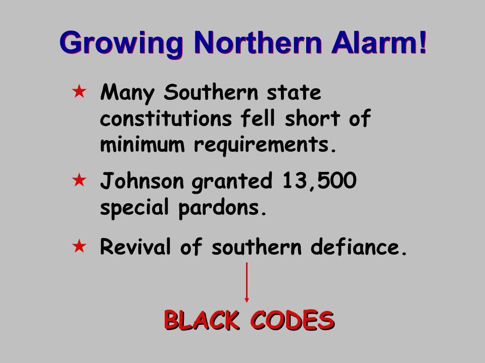 Growing Northern Alarm!