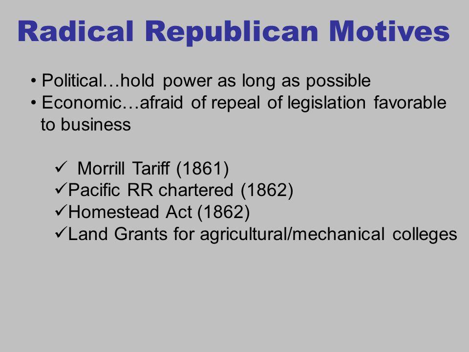 Radical Republican Motives