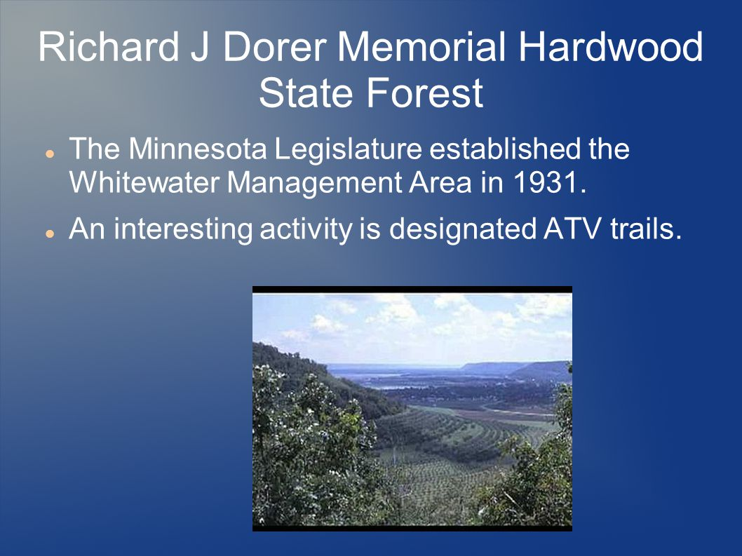 Richard J Dorer Memorial Hardwood State Forest