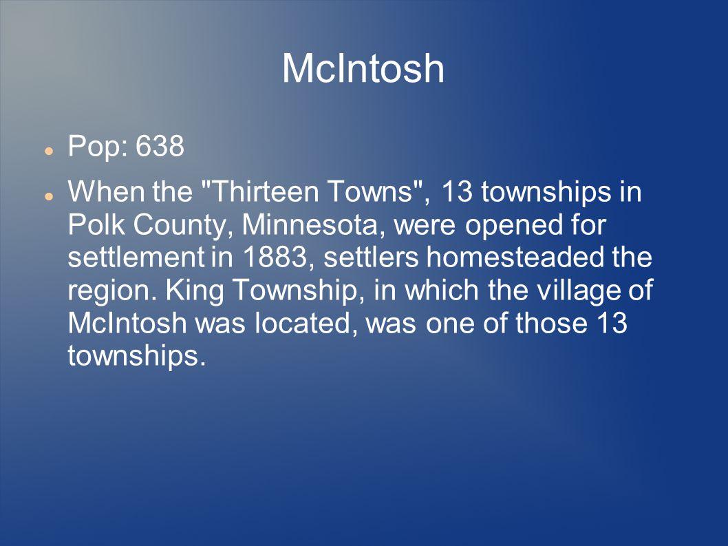 McIntosh Pop: 638.