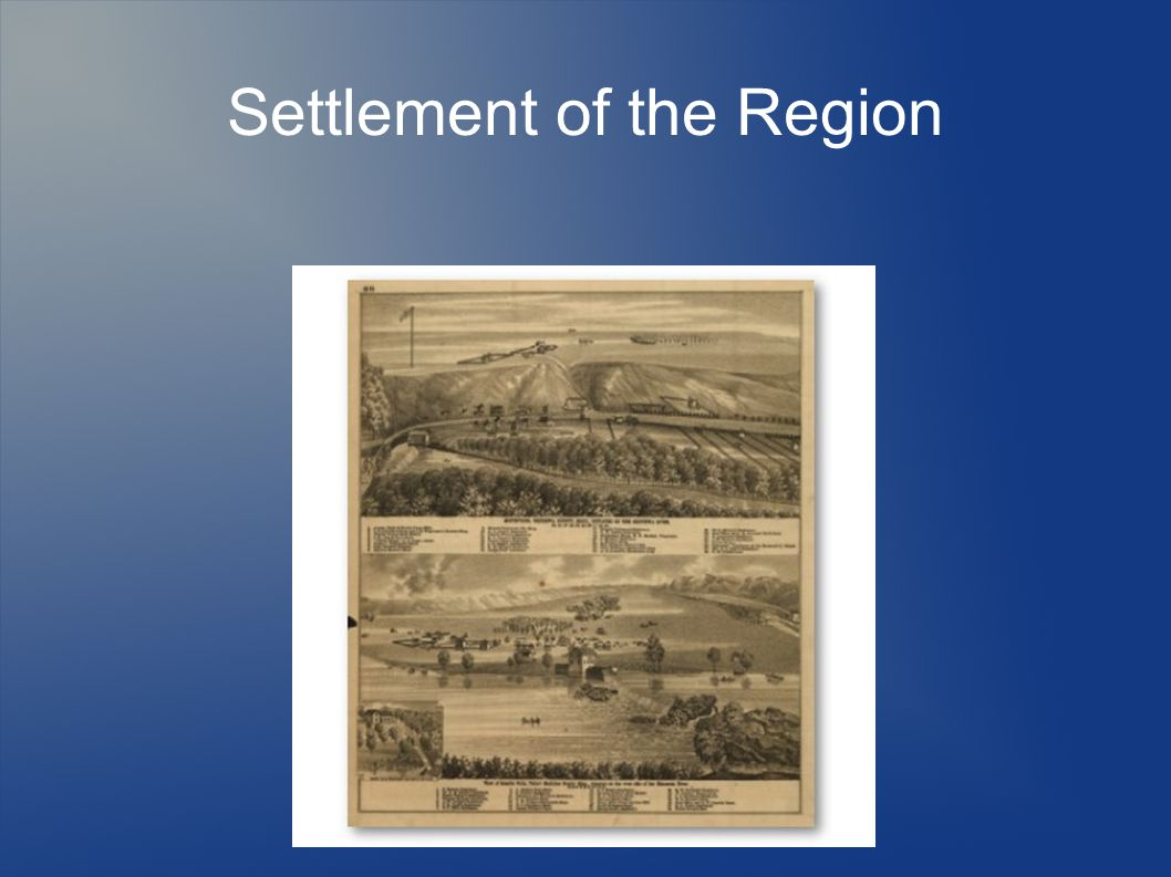 Settlement of the Region