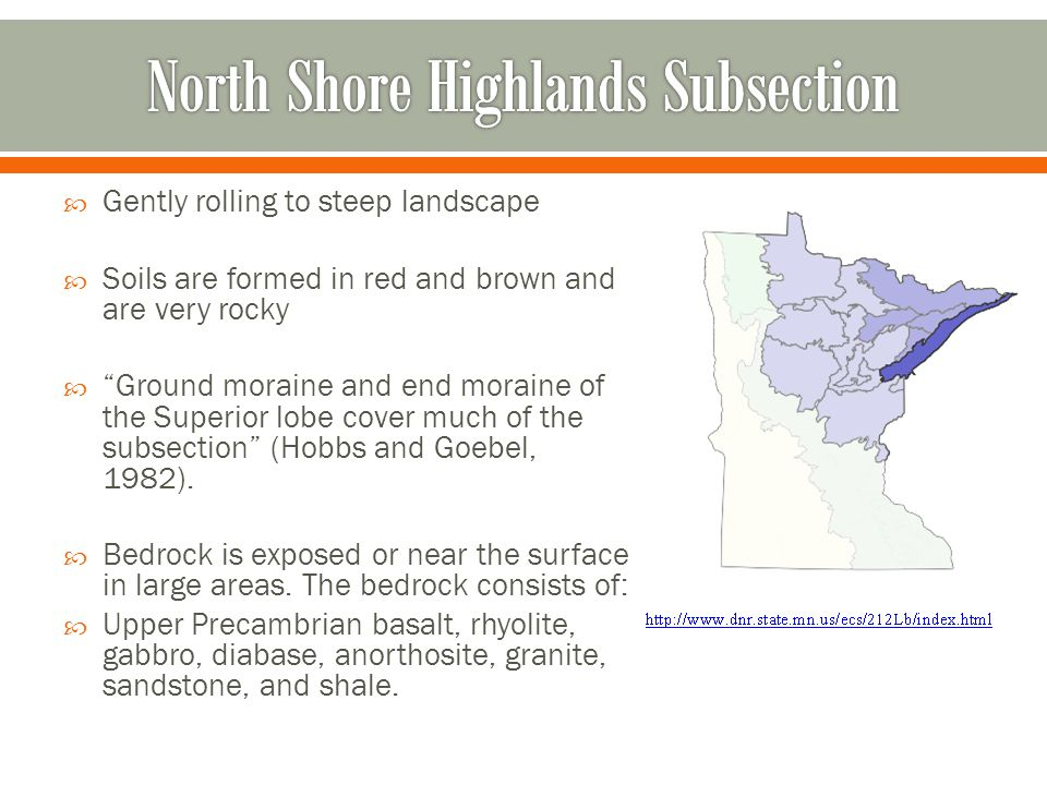 North Shore Highlands Subsection