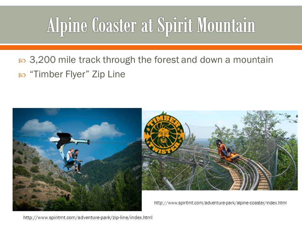 Alpine Coaster at Spirit Mountain