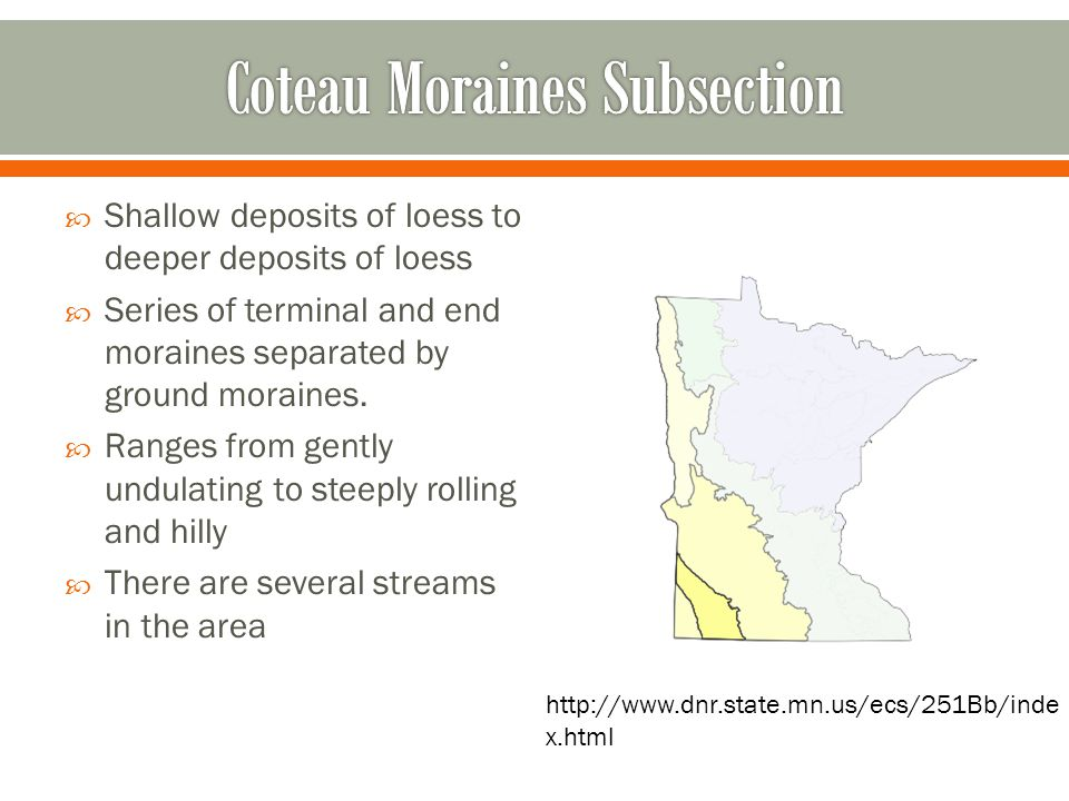 Coteau Moraines Subsection