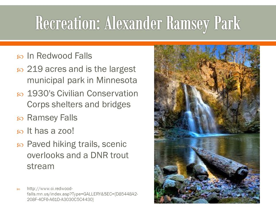 Recreation: Alexander Ramsey Park