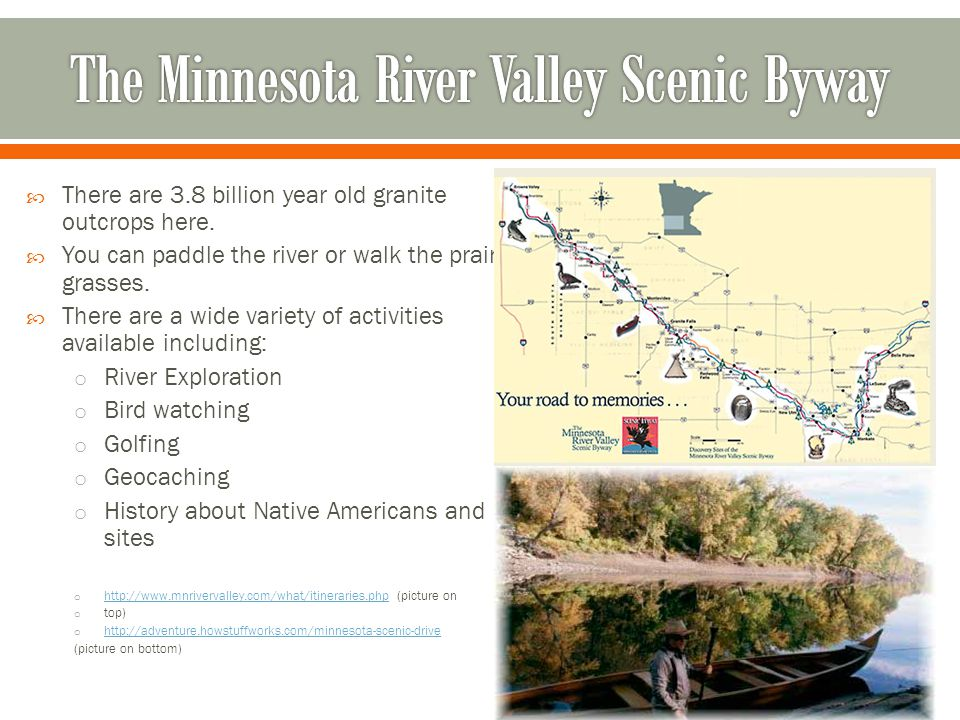 The Minnesota River Valley Scenic Byway