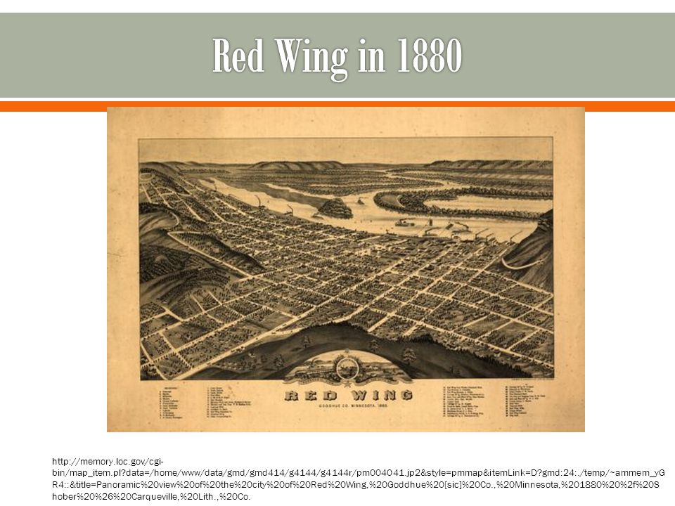 Red Wing in 1880