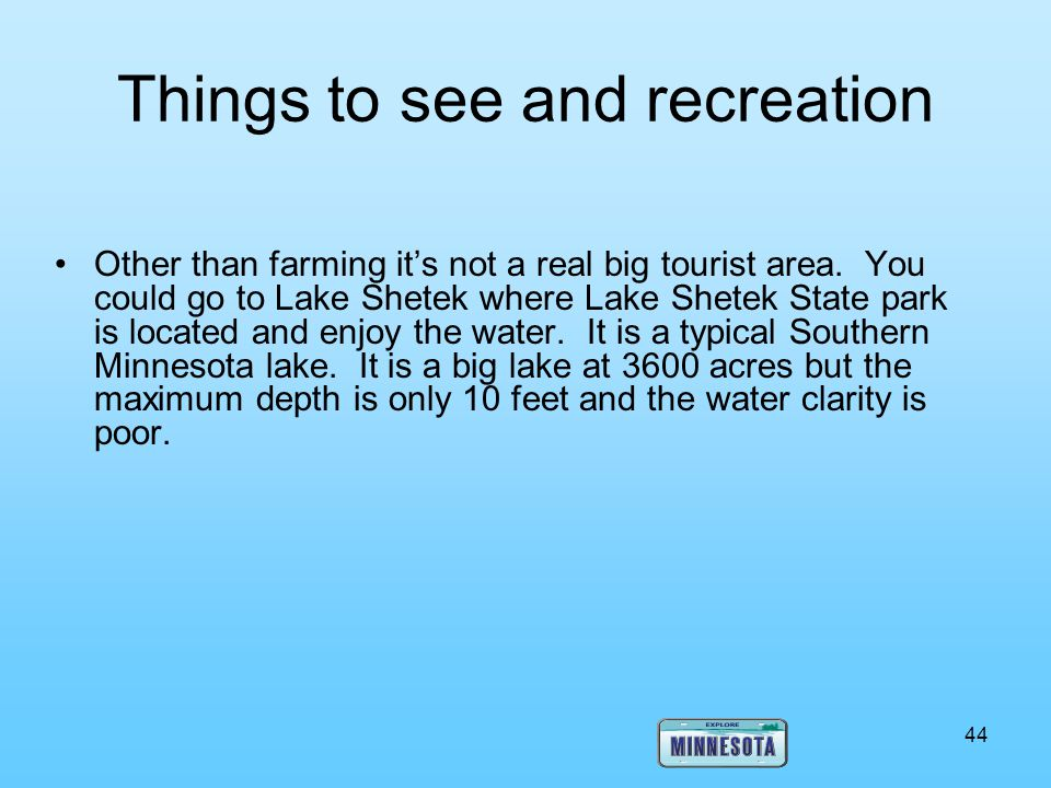 Things to see and recreation
