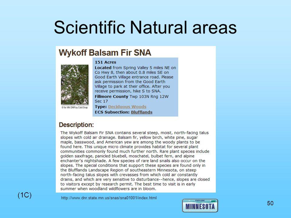 Scientific Natural areas