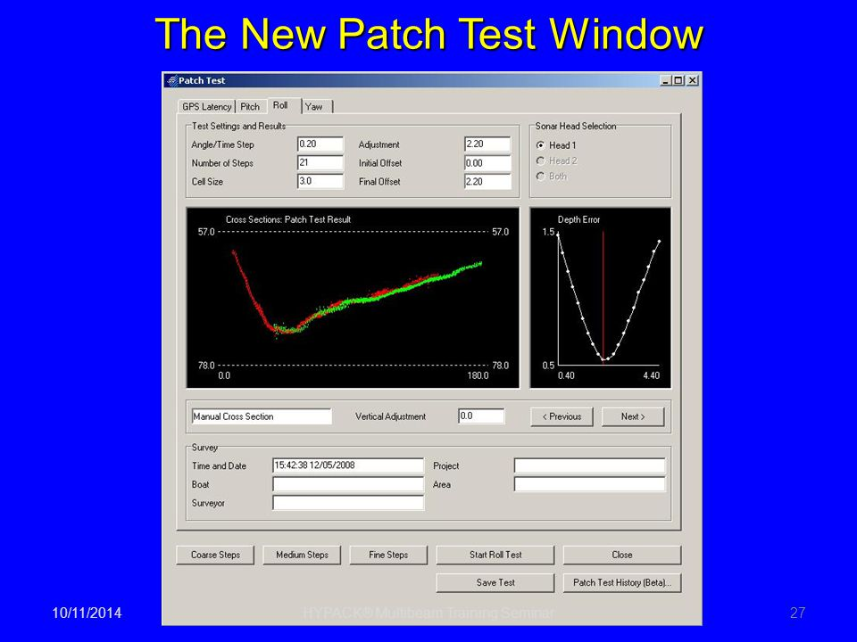 The New Patch Test Window