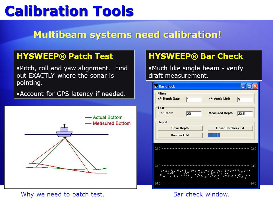 Multibeam systems need calibration!
