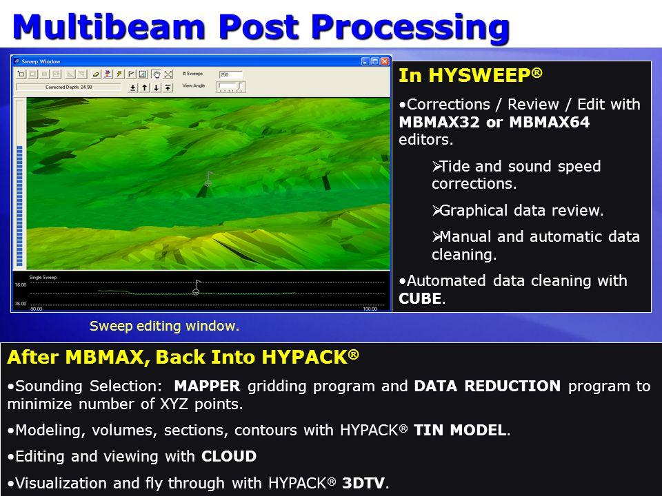 Multibeam Post Processing
