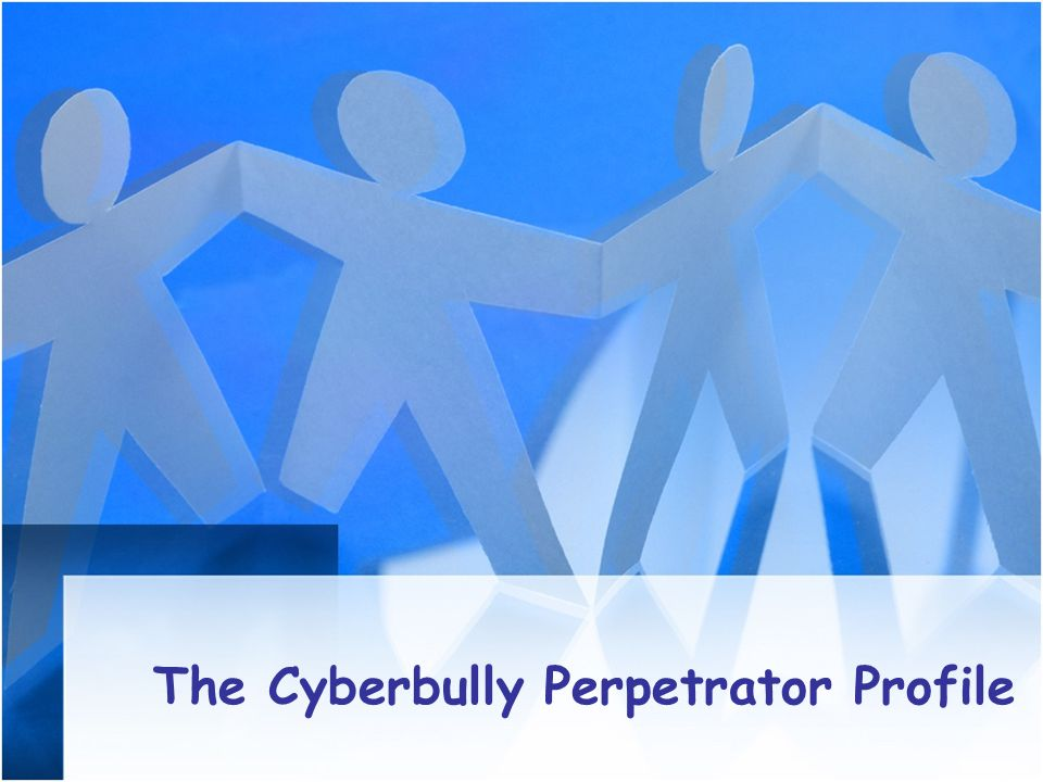 The Cyberbully Perpetrator Profile