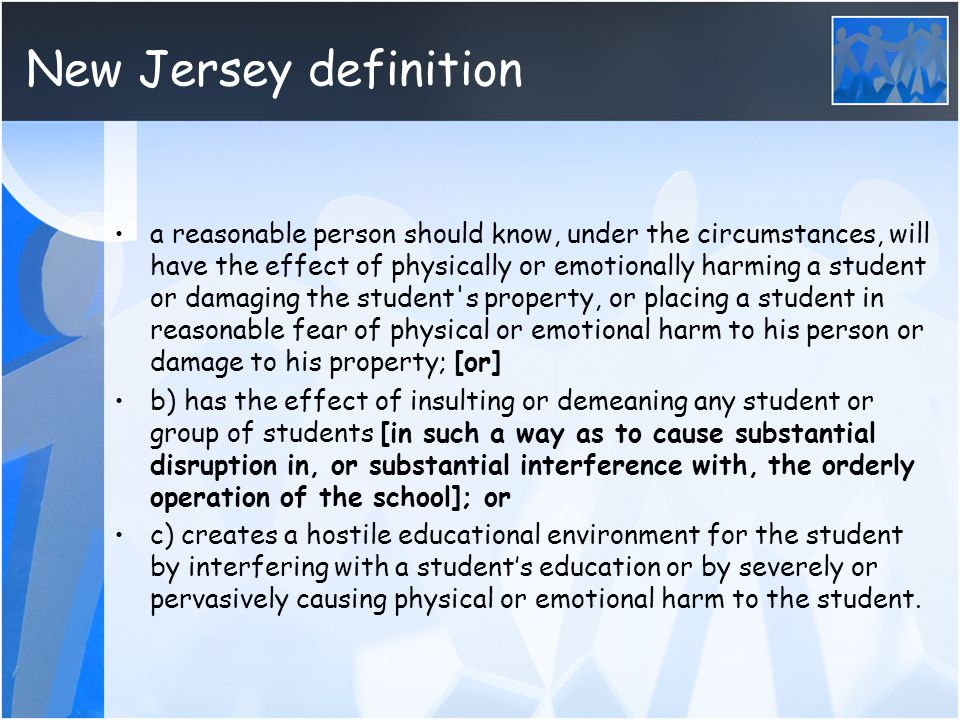 New Jersey definition