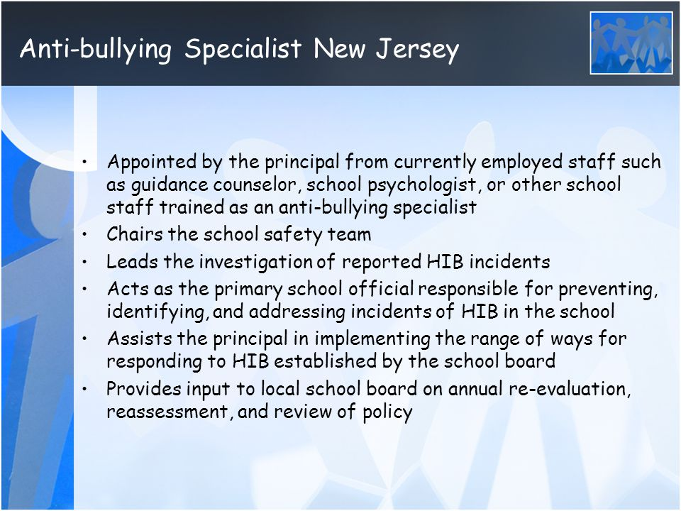 Anti-bullying Specialist New Jersey