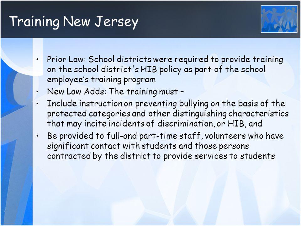 Training New Jersey