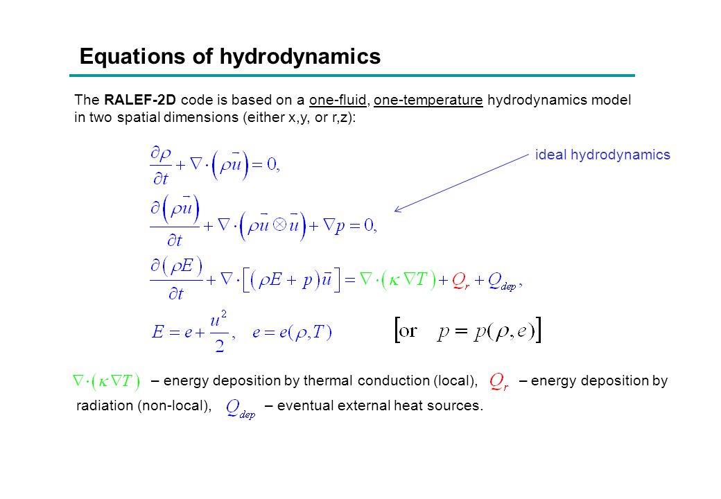 Equations of hydrodynamics