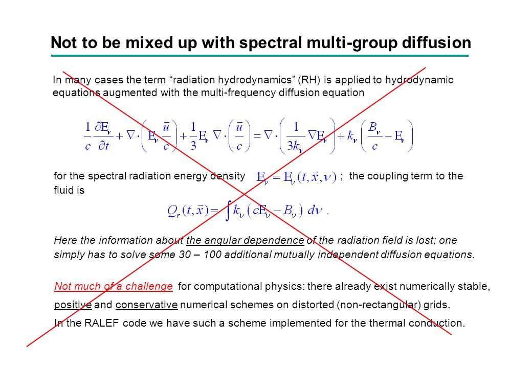 Not to be mixed up with spectral multi-group diffusion