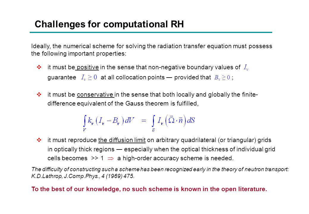 Challenges for computational RH
