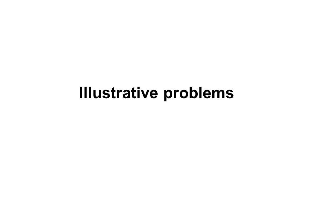 Illustrative problems