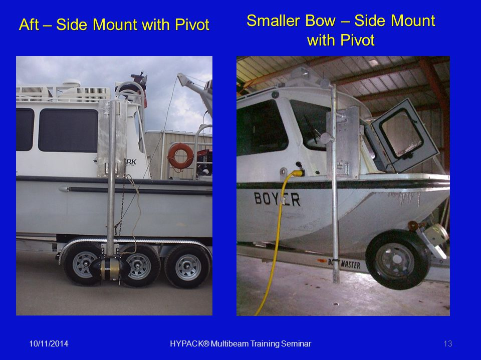 Smaller Bow – Side Mount with Pivot Aft – Side Mount with Pivot