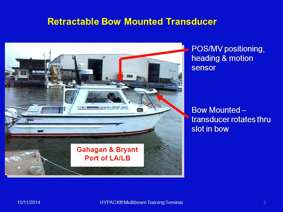 Retractable Bow Mounted Transducer