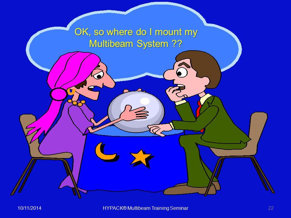 OK, so where do I mount my Multibeam System