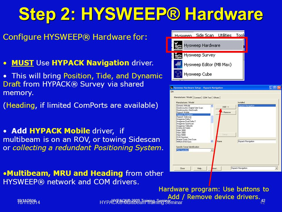 Step 2: HYSWEEP® Hardware