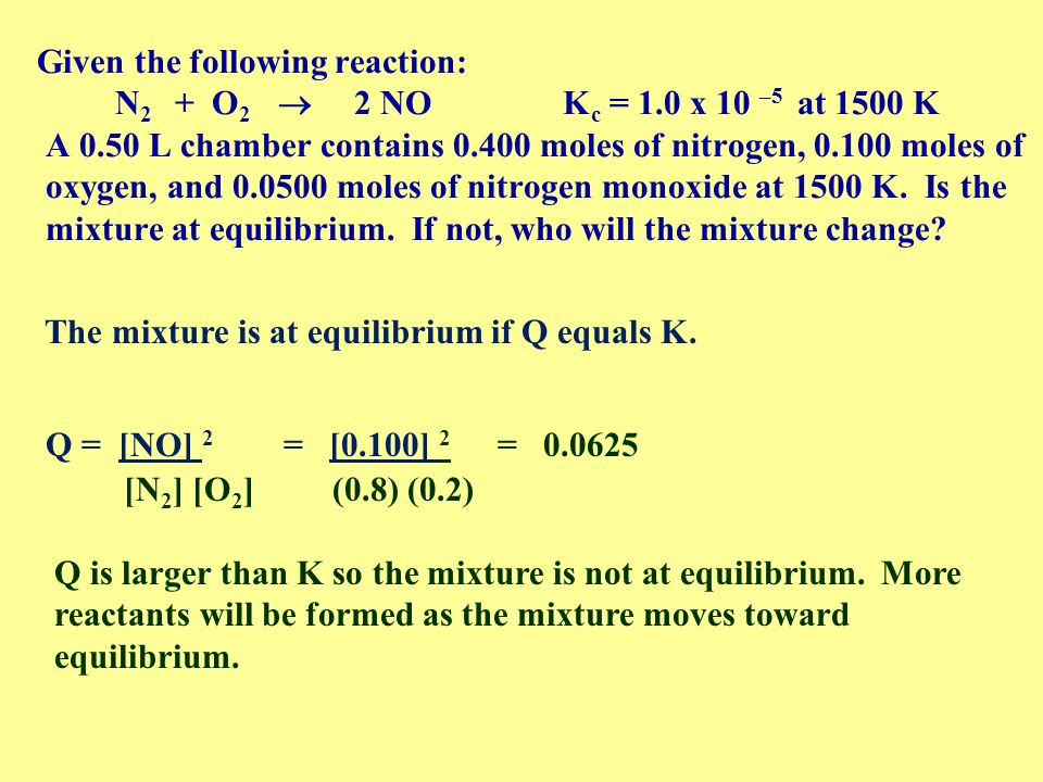 how to tell if a reaction is at equilibrium