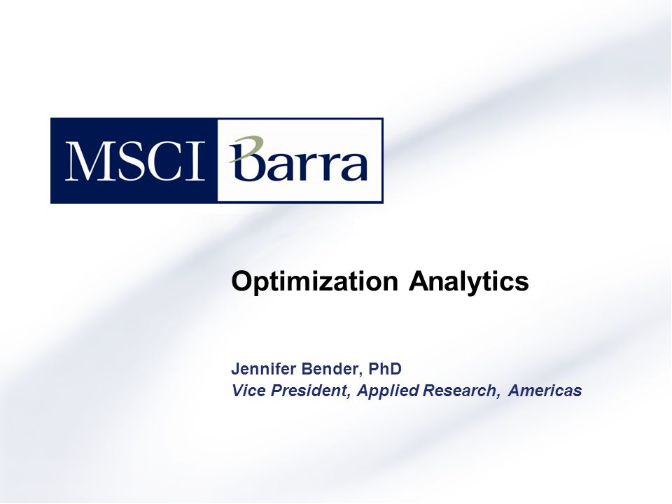 Optimization Analytics