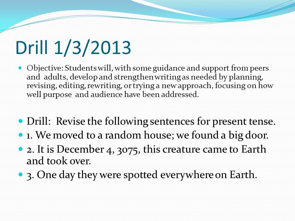 Drill 1/3/2013