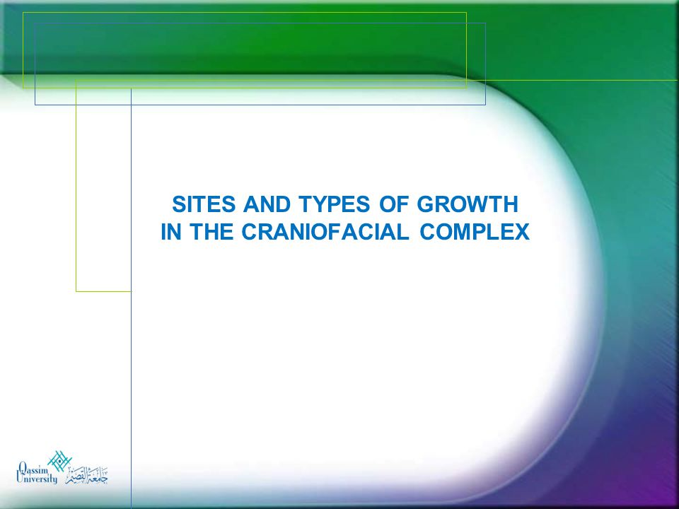 Sites and Types of Growth in the craniofacial complex