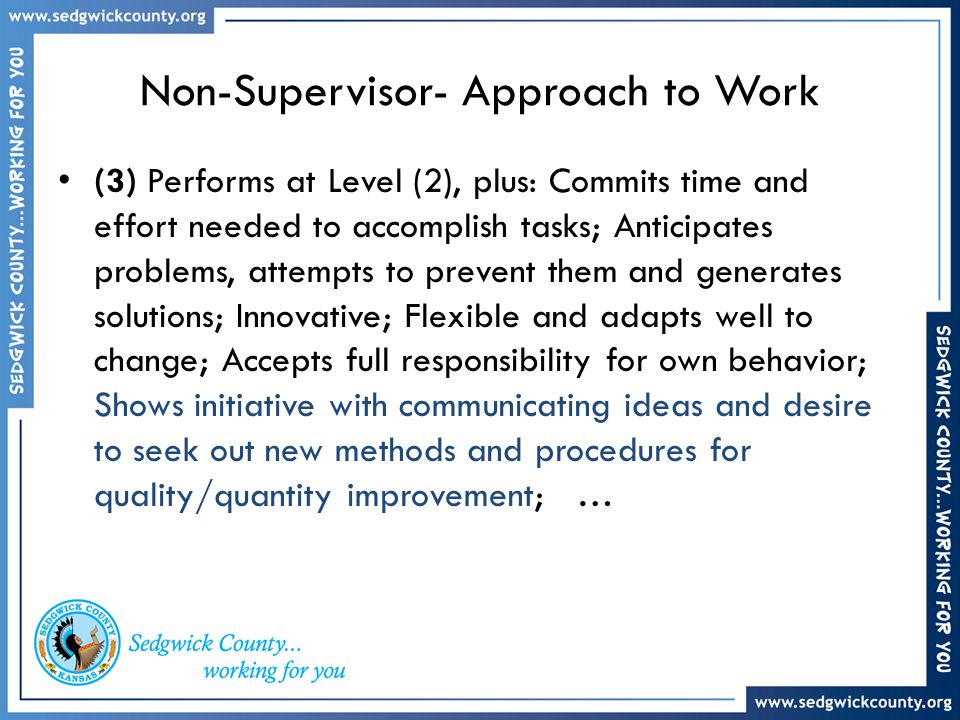 Non-Supervisor- Approach to Work