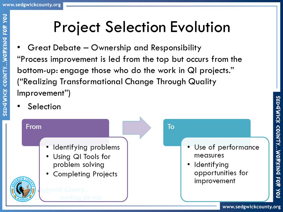 Project Selection Evolution