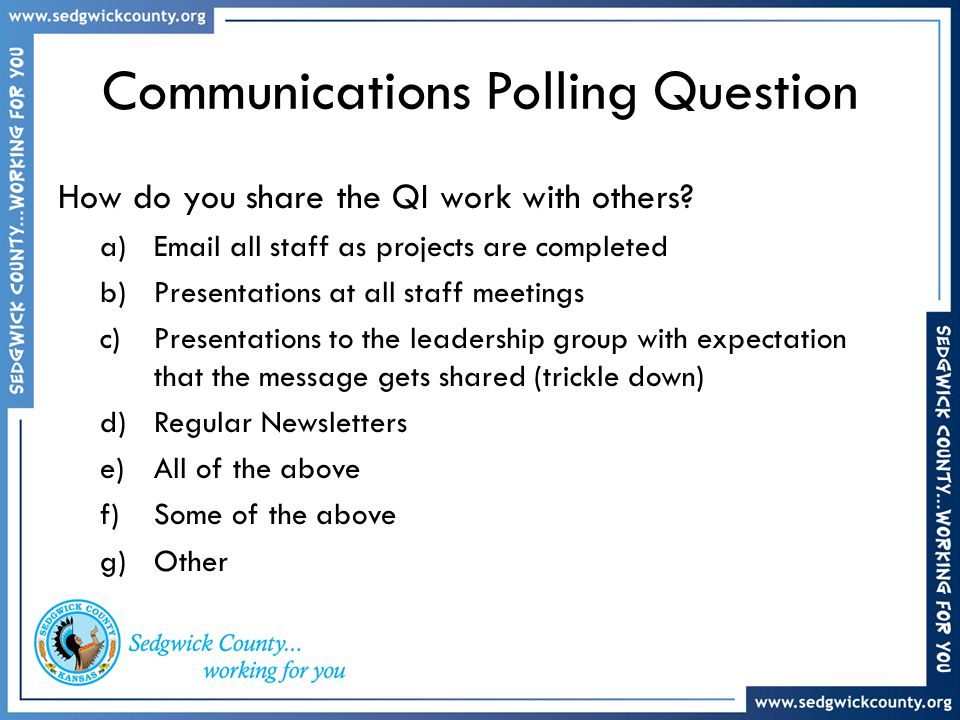 Communications Polling Question