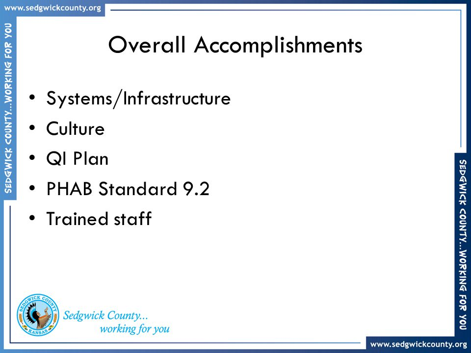 Overall Accomplishments