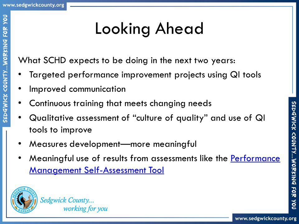 Looking Ahead What SCHD expects to be doing in the next two years: