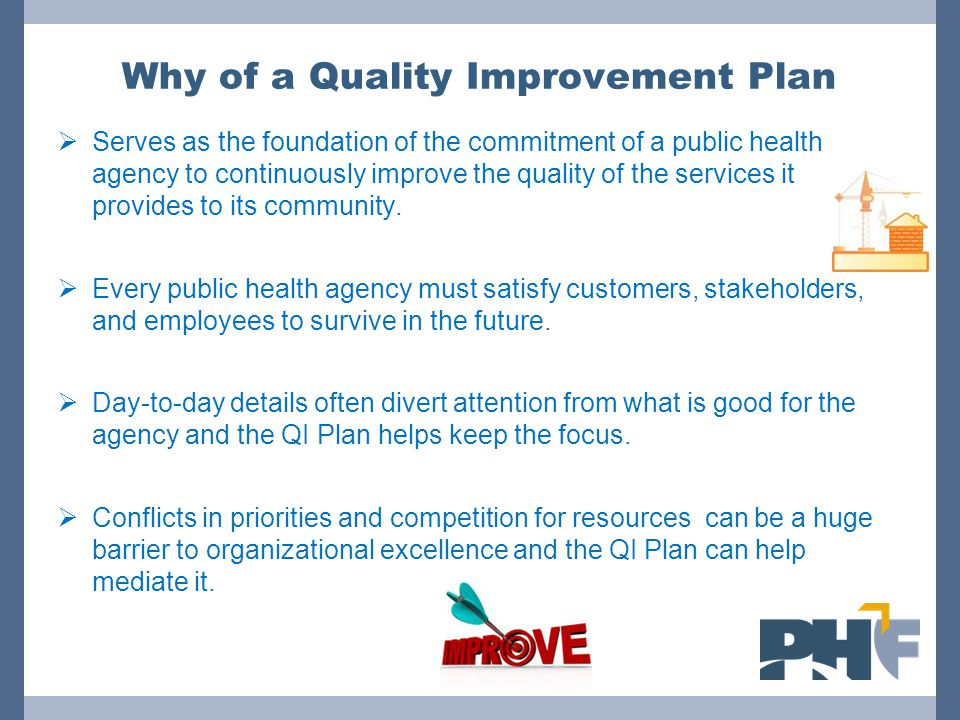 Why of a Quality Improvement Plan