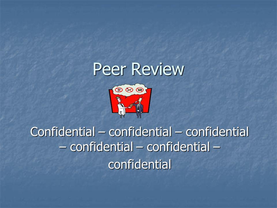 Peer Review Confidential – confidential – confidential – confidential – confidential – confidential