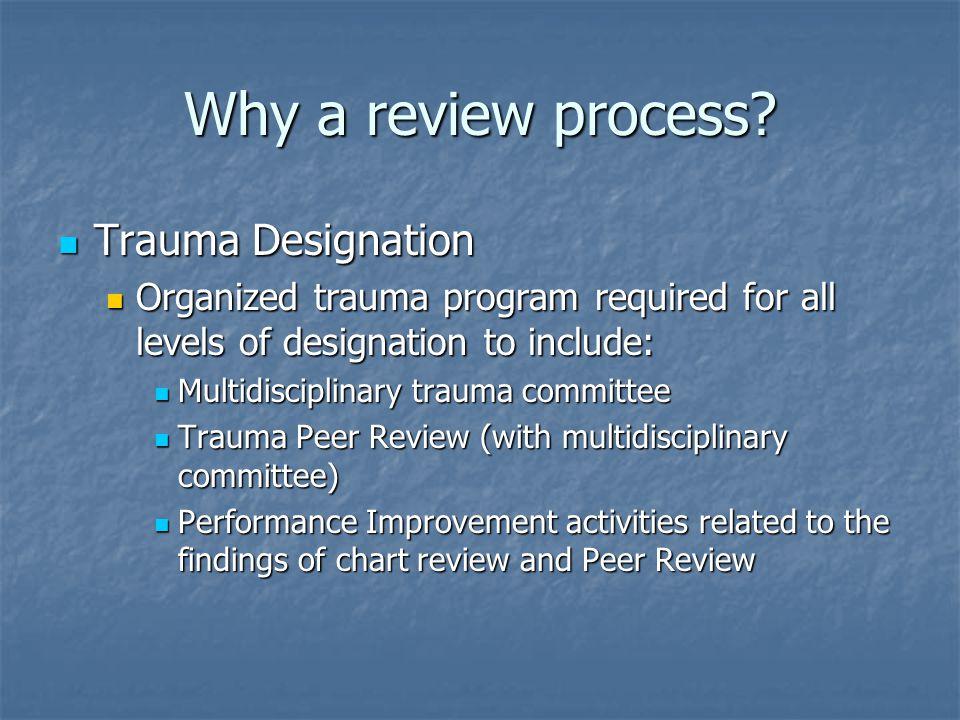 Why a review process Trauma Designation