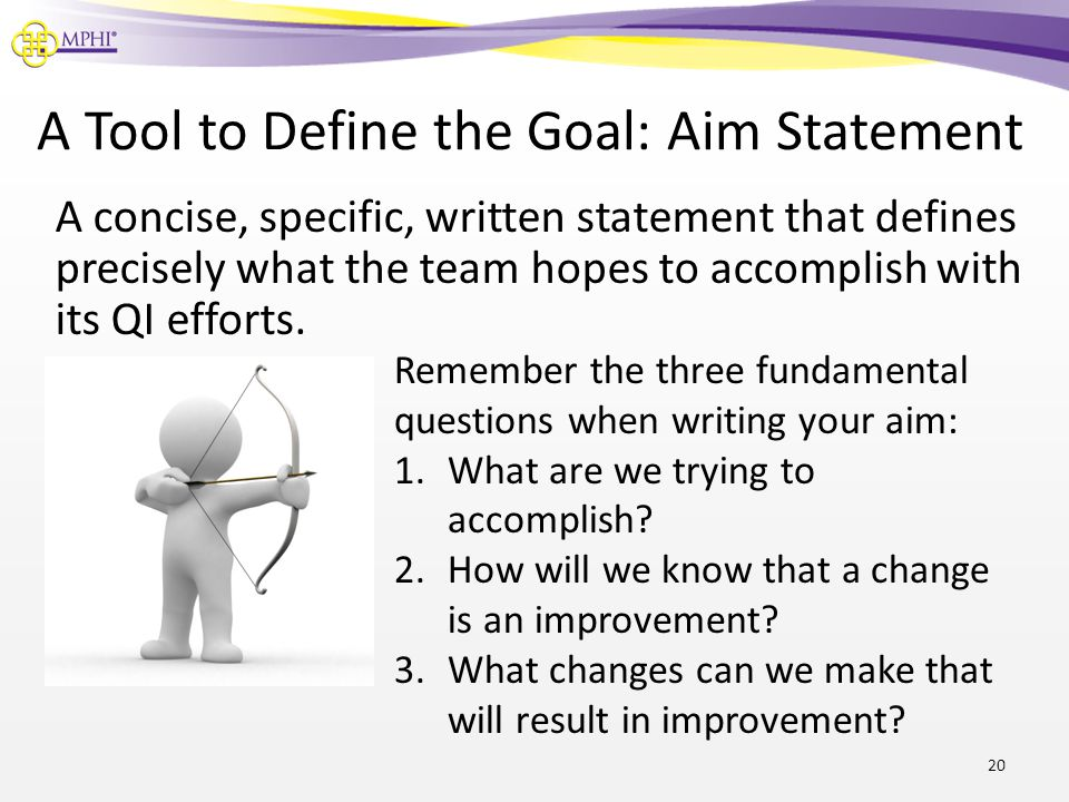 A Tool to Define the Goal: Aim Statement