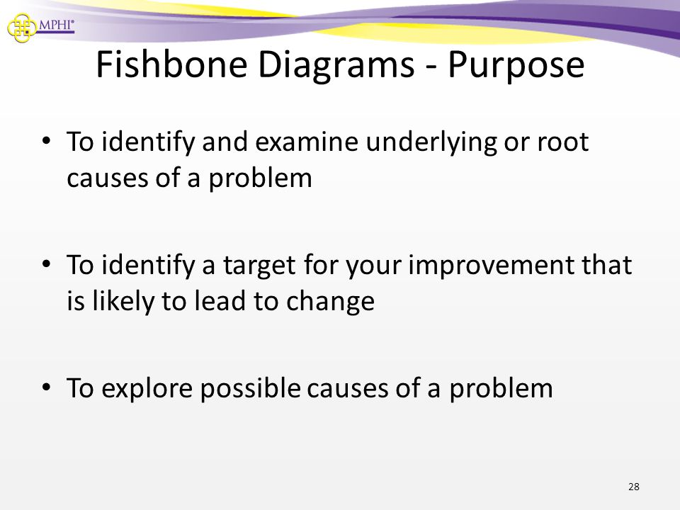 Fishbone Diagrams - Purpose