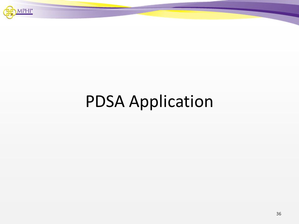 PDSA Application
